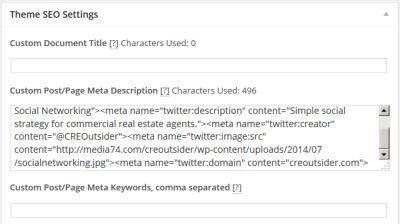 SEO settings WordPress